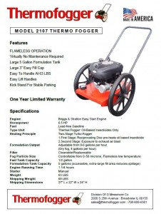 Thermofogger Model 2107 Flyer